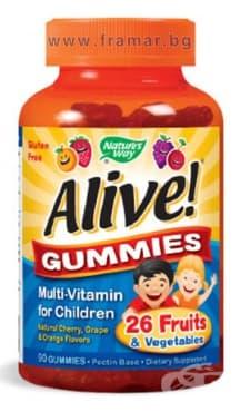 Изображение към продукта АЛАЙВ МУЛТИВИТАМИНИ ЗА ДЕЦА желирани таблетки * 90 NATURE'S WAY