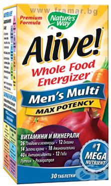 Изображение към продукта АЛАЙВ МУЛТИВИТАМИНИ ЗА МЪЖЕ таблетки * 30 NATURE'S WAY
