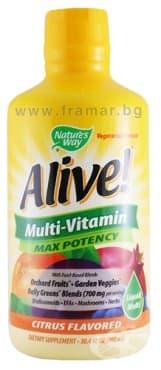 АЛАЙВ течен мултивитамин 900 мл. NATURE'S WAY - изображение