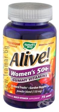 Изображение към продукта АЛАЙВ ВИТАМИНИ ЗА ЖЕНИ 50+ желирани таблетки * 75 NATURE'S WAY