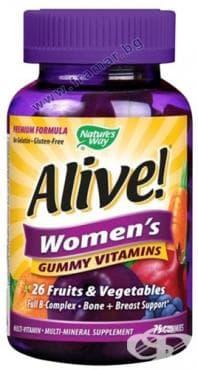 Изображение към продукта АЛАЙВ ВИТАМИНИ ЗА ЖЕНИ желирани таблетки * 75 NATURE'S WAY