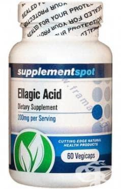 Изображение към продукта ЕЛАГОВА КИСЕЛИНА капс. 200 мг. * 60 SUPPLEMENT SPOT