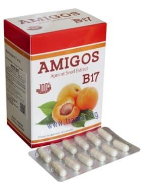 Изображение към продукта АМИГОС АМИГДАЛИН B17 капсули 100 мг. * 60 ДР. ГРИЙН