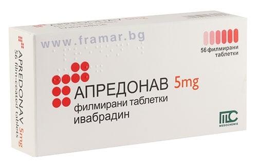 Изображение към продукта АПРЕДОНАВ таблетки 5 мг * 56