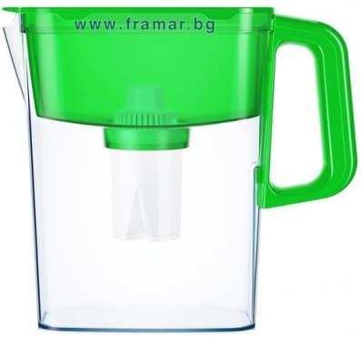 Изображение към продукта АКВАФОР КОМПАКТ ЗЕЛЕНА КАНА ЗА ФИЛТРИРАНЕ НА ВОДА 2.4 литра