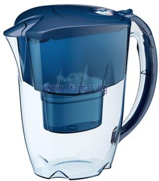 Изображение към продукта АКВАФОР ДЖАСПЪР СИНЯ КАНА ЗА ФИЛТРИРАНЕ НА ВОДА 2.8 литра В 25+