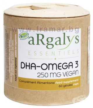 Изображение към продукта АРГАЛИС ОМЕГА 3 DHA капсули * 60