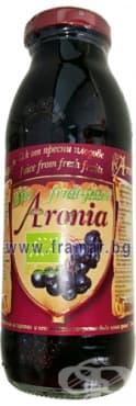 Изображение към продукта АРОНИЯ БИО СОК 100% 300 мл АРОНИАДА-АГРО