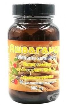 Изображение към продукта АШВАГАНДА КОРЕН капсули 300 мг * 90 VERDE VITA