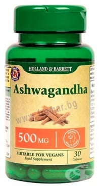 Изображение към продукта АШВАГАНДА ЕКСТРАКТ капсули 500 мг * 30 HOLLAND & BARRETT