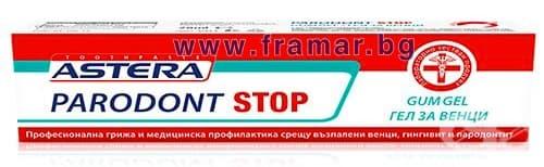 Изображение към продукта АСТЕРА ПАРОДОНТ СТОП ГЕЛ ЗА ВЕНЦИ 20 мл.