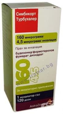 Изображение към продукта СИМБИКОРТ ТУРБУХАЛЕР прах за инхалация 160 / 4.5 мкг 120 дози
