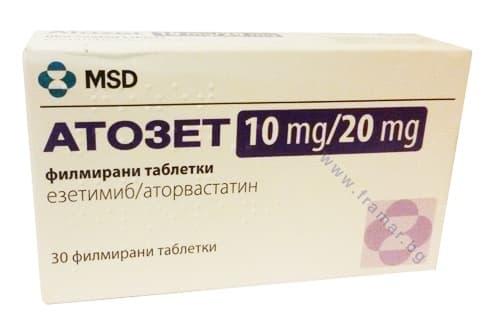 АТОЗЕТ таблетки 10 мг. / 20 мг. * 30 - изображение