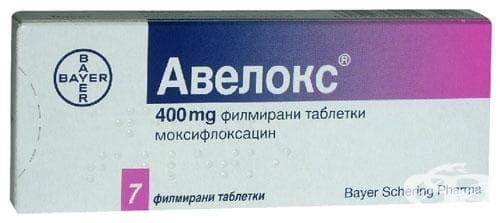 Изображение към продукта АВЕЛОКС таблетки 400 мг * 7