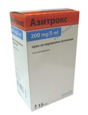 Изображение към продукта АЗИТРОКС сусп. 200 мг / 5 мл 15 мл