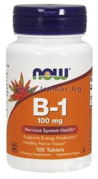 НАУ ФУДС ВИТАМИН Б1 табл. 100 мг. * 100