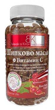 Изображение към продукта БАЛЕВСКИ И КИРОВ ШИПКОВО МАСЛО И ВИТАМИН C капсули * 90