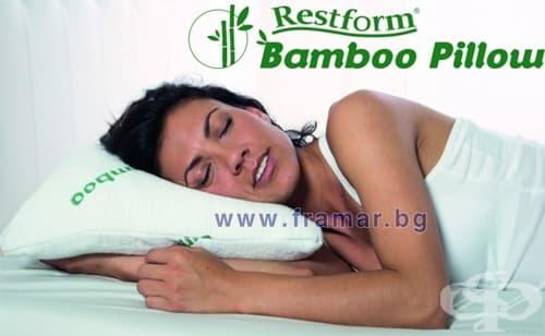 ВЪЗГЛАВНИЦА ОТ МЕМОРИ ПЯНА И БАМБУКОВИ НИШКИ RESTFORM BAMBOO PILLOW - изображение