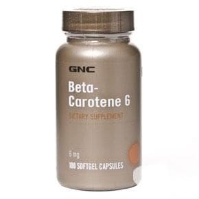 БЕТА КАРОТЕН капс. 6 мг. * 100 GNC - изображение