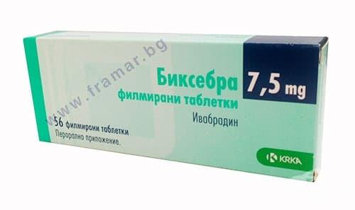 Изображение към продукта БИКСЕБРА таблетки 7.5 мг * 56 KRKA
