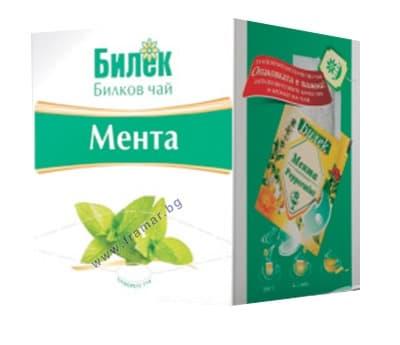 ЧАЙ ФИЛТЪР МЕНТА * 16 БИЛЕК - изображение