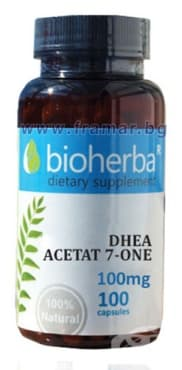 БИОХЕРБА DHEA АЦЕТАТ 7-КЕТО капсули 100 мг. * 100 - изображение