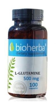 БИОХЕРБА L-ГЛУТАМИН капсули 500 мг. * 100 - изображение