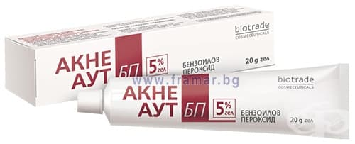 Изображение към продукта АКНЕ АУТ БП гел 5% 20 гр.