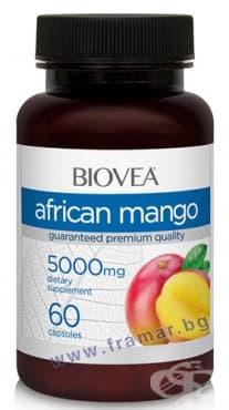 БИОВЕА АФРИКАНСКО МАНГО капсули 5000 мг. * 60 - изображение
