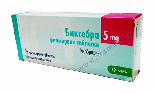 Изображение към продукта БИКСЕБРА таблетки 5 мг * 56 KRKA