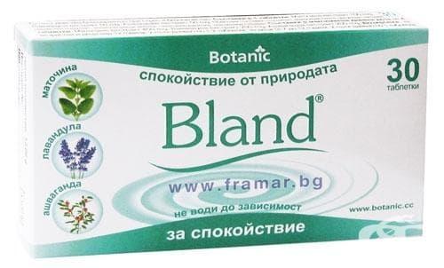 Изображение към продукта БЛАНД таблетки * 30 ПРИ СТРЕС БОТАНИК