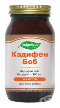БУЛГАРИКУС КАДИФЕН БОБ капсули 300 мг  * 60 - изображение