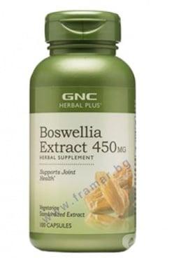 Изображение към продукта ЕКСТРАКТ ОТ БОСВЕЛИЯ капсули 450 мг * 100 GNC
