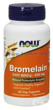 НАУ ФУДС БРОМЕЛАИН таблетки 500 мг. * 60