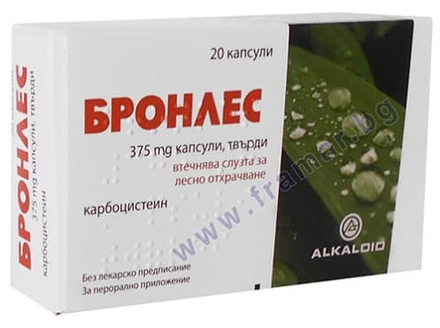 БРОНЛЕС капсули 375 мг * 20 - изображение