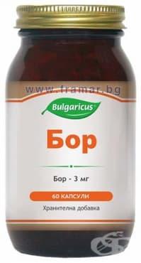 БУЛГАРИКУС БОР капсули 3 мг. * 60 - изображение
