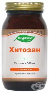 БУЛГАРИКУС ХИТОЗАН капсули 500 мг. * 120 - изображение