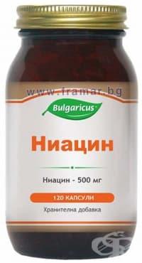 БУЛГАРИКУС НИАЦИН капсули 500 мг. * 120 - изображение