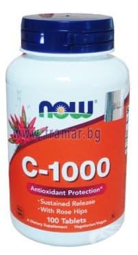 Изображение към продукта НАУ ФУДС ВИТАМИН Ц - 1000 мг. С БИОФЛАВОНОИДИ капсули * 100