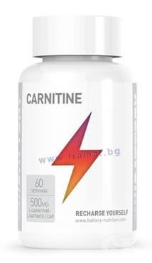 Изображение към продукта БАТЕРИ НУТРИШЪН КАРНИТИН капсули 500 мг. * 60