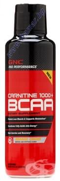 Изображение към продукта L - КАРНИТИН 1000 + BCAA 473 мл. GNC