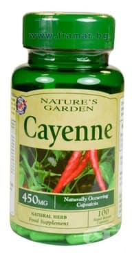 Изображение към продукта ЛЮТ ПИПЕР капсули 450 мг. * 100 NATURE'S GARDEN