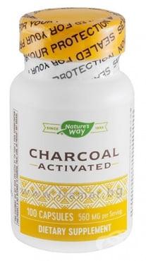 Изображение към продукта АКТИВЕН ВЪГЛЕН капсули 280 мг * 100 NATURE'S WAY