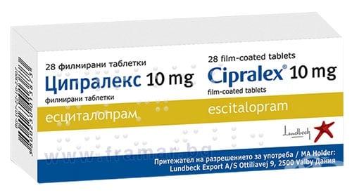 Изображение към продукта ЦИПРАЛЕКС таблетки 10 мг * 28 БЕСТА МЕД