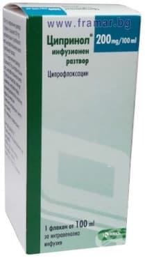 Изображение към продукта ЦИПРИНОЛ флакон 0.2 % 100 мл.