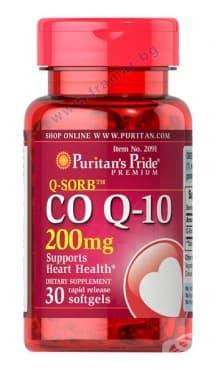 ПУРИТАНС ПРАЙД КОЕНЗИМ Q10 капсули 200 мг. * 30 - изображение