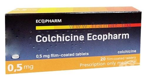 Изображение към продукта КОЛХИЦИН таблетки 0.5 мг * 20 ЕКОФАРМ