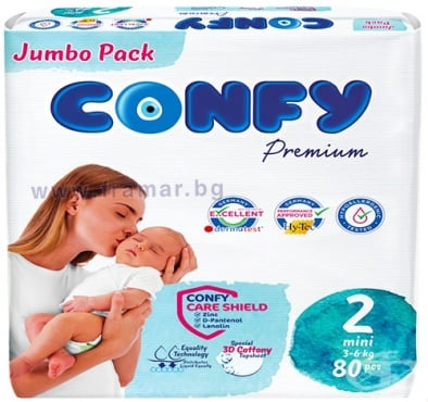 Изображение към продукта КОНФИ ПАМПЕРСИ МИНИ 3 - 6 кг * 80