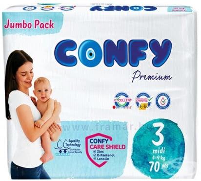 Изображение към продукта КОНФИ ПАМПЕРСИ МИДИ 4 - 9 кг * 70