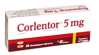 КОРЛЕНТОР табл. 5 мг. * 56 - изображение